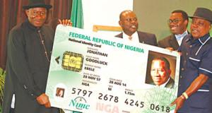 Jonathan launches National e-ID card