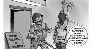 Army - Boko Haram Cartoon
