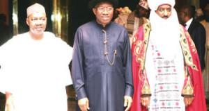 Jonathan Goodluck and Emir of Kano Sanusi