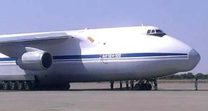 Russian plane with arms in Kano
