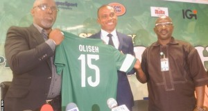 NFF unveils Oliseh as Super Eagles coach
