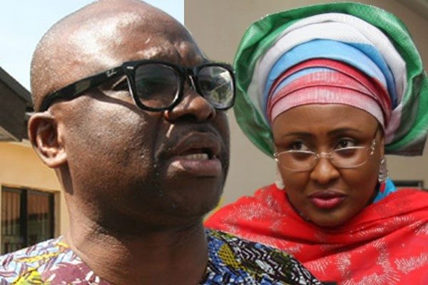 Image result for fayose and aisha buhari