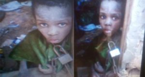 Ogun govt adopts chained 9-yr-old boy, Korede Taiwo