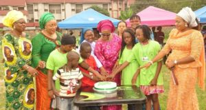 Mrs. Monica Ugwuanyi at the Children's Vacation Camp in Enugu