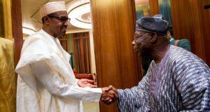 President Buhari with Obasanjo