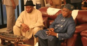 Obasanjo, Jonathan meeting