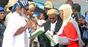 Akeredolu swears-in as Ondo governor