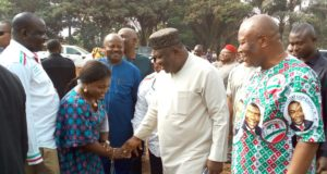 Gov. Ifeanyi Ugwuanyi of Enugu State with PDP Executive Committee meeting in Udenu