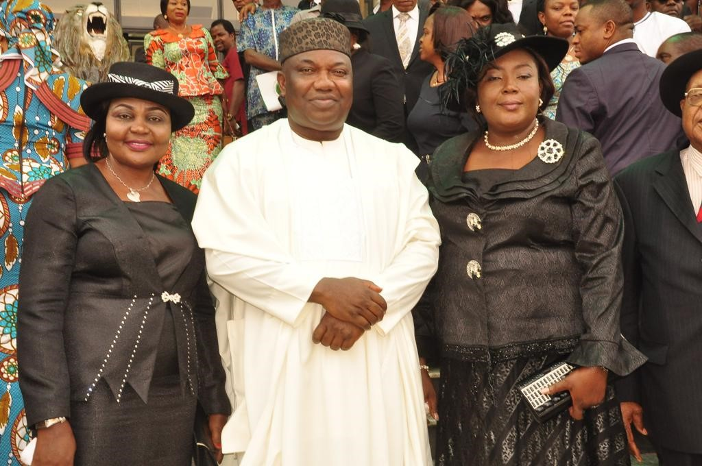 Gov. Ifeanyi Ugwuanyi of Enugu State with Justice Mabel Egumgbe