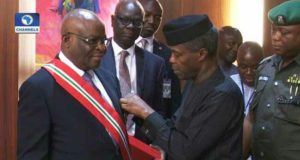 Osinbajo swears-in Onnoghen