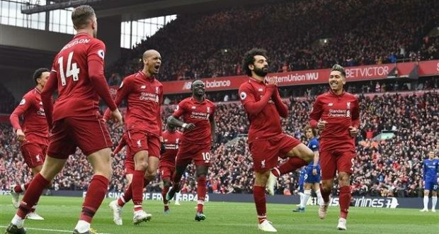 Image result for Liverpool reclaim top spot with Salah wonder strike against Chelsea