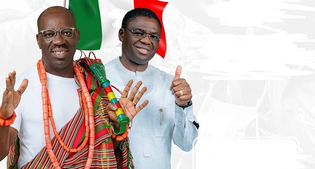 Governor Obaseki and his Deputy, Philip Shuaibu